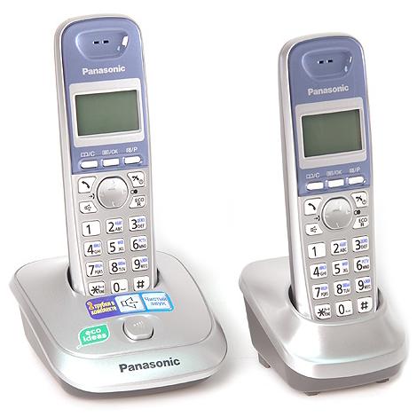 Радиотелефон Panasonic KX-TG2512RUS серебристый радиотелефон