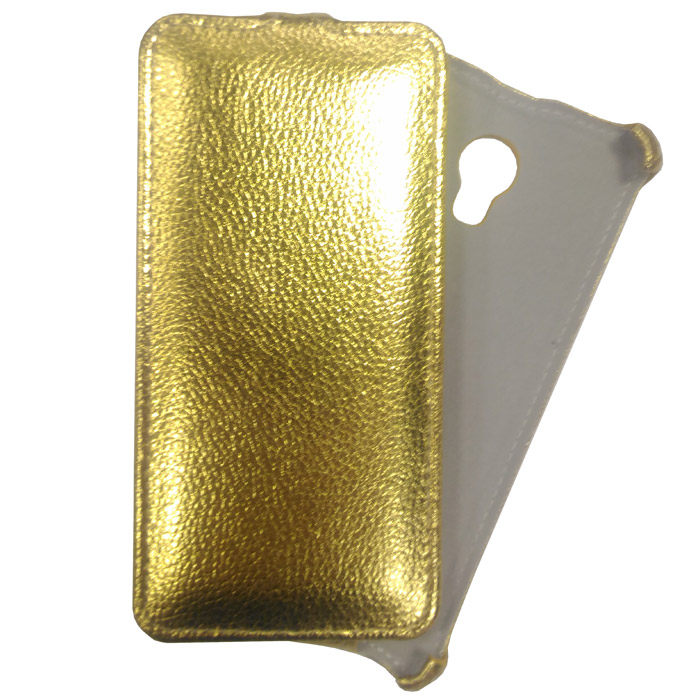 Чехол для Meizu M5 Gecko Flip, золотистый