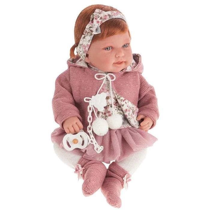 Кукла Munecas Antonio Juan Саманта в розовом, 40 см 3370P
