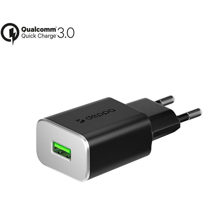 Фото - Сетевое зарядное устройство Deppa, USB, 2A (Qualcomm Quick Charge 3.0) Черное (11384) зарядное устройство thumbs up turbo черное