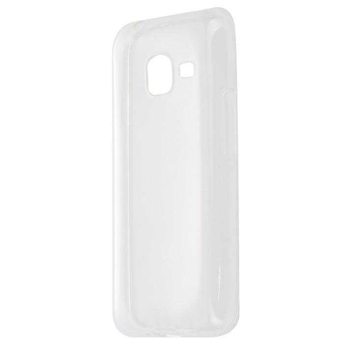 Чехол для Samsung Galaxy J1 mini (2016) SM-J105H Gecko, Силиконовая накладка, прозрачно-глянцевая, белая чехол для samsung galaxy j5 prime sm g570f ds gecko flip case серебристый