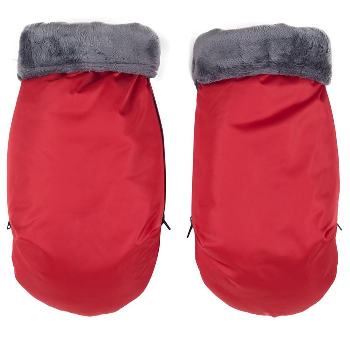 Муфта для рук Mammie варежки (красный) комплект зимний конверт mammie с мехом вельбоа муфта на ручку коляски варежки цвет серый