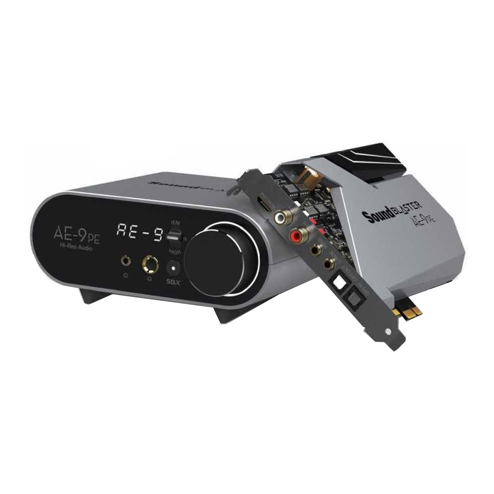 Звуковая карта Creative Sound BlasterX AE-9 PE PCI-eX w/o MIC Ret звуковая карта creative sound blasterx ae 7 pci ex int retail 70sb180000000