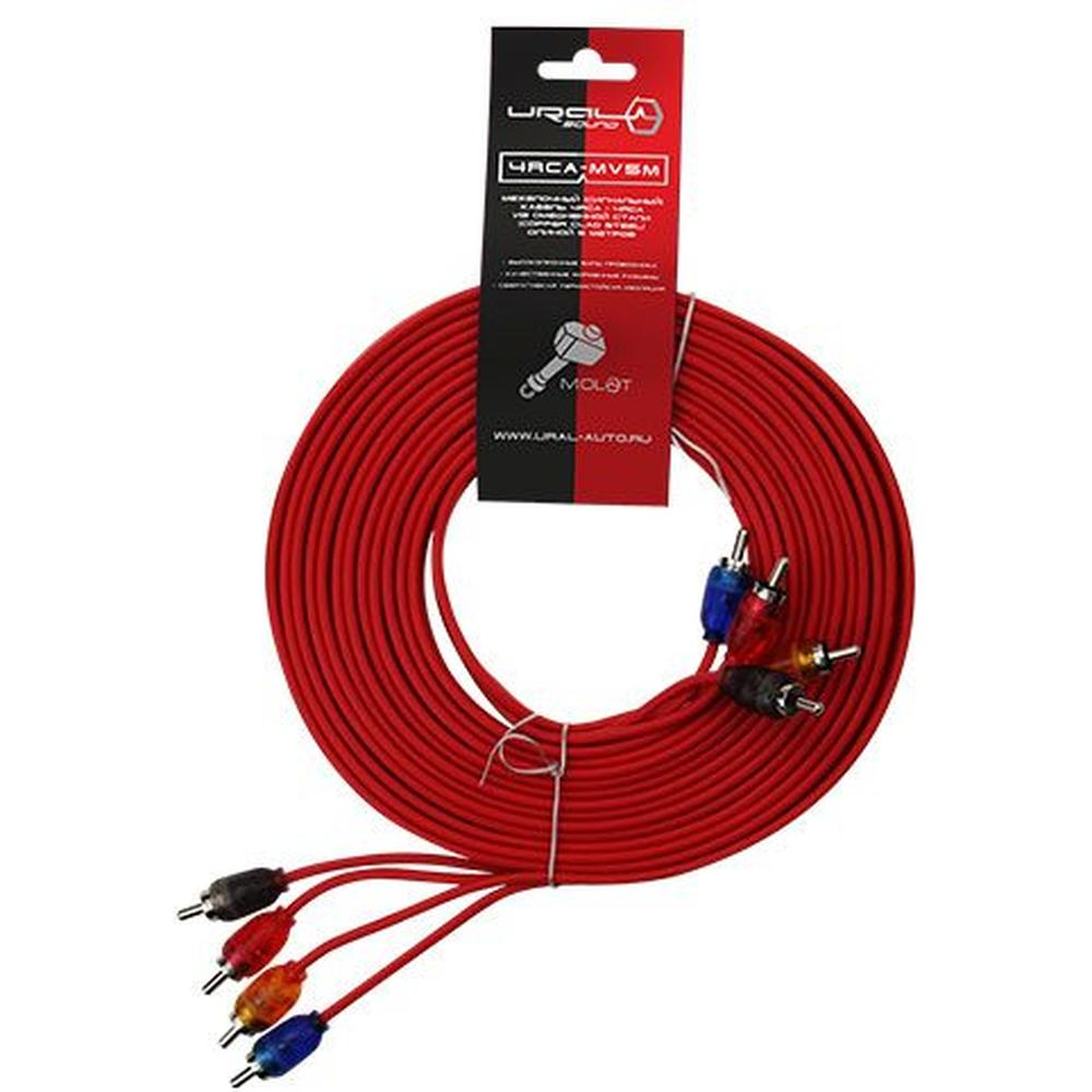 Межблочный кабель URAL 4RCA-MV5M