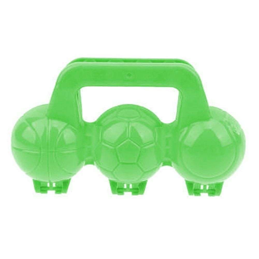 1Toy Песколеп мячики 3 ячейки 20*11*22 см Т16419 зеленый недорого