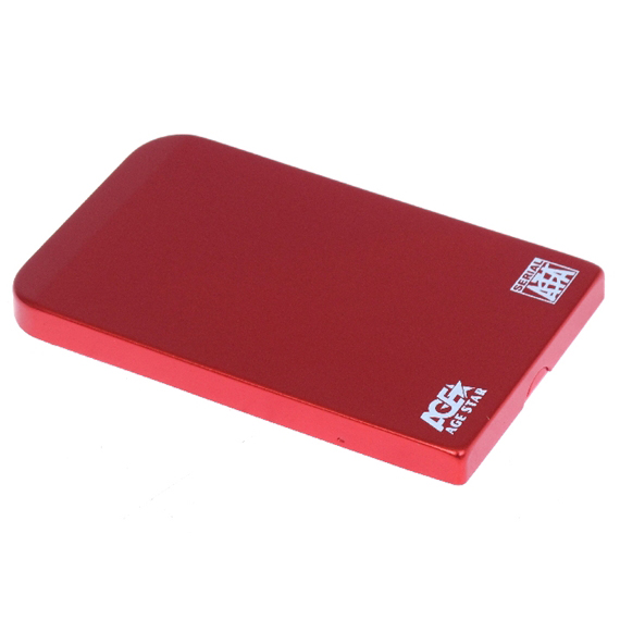 Фото - Корпус 2.5 AgeStar SUB2O1, SATA-USB2.0 Red корпус 2 5 agestar 3ub2a8 6g sata usb3 0 silver