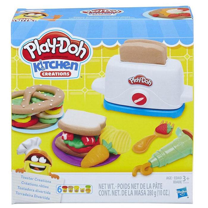 Фото - Игровой набор с пластилином Hasbro Play-Doh Тостер E0039 игровой набор специальной массы hasbro play doh wheels e4508