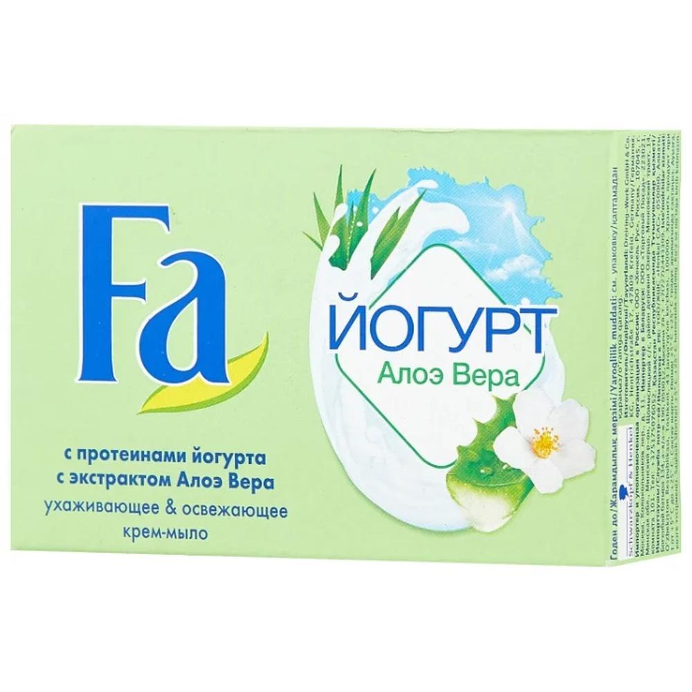 Твердое мыло Крем-мыло кусковое Fa Йогурт алоэ вера, 90 г.