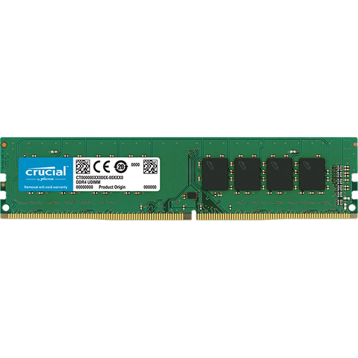 Фото - Модуль памяти DIMM 16Gb DDR4 PC21300 2666MHz Crucial (CT16G4DFD8266) модуль памяти so dimm ddr4 4gb pc21300 2666mhz crucial ct4g4sfs8266