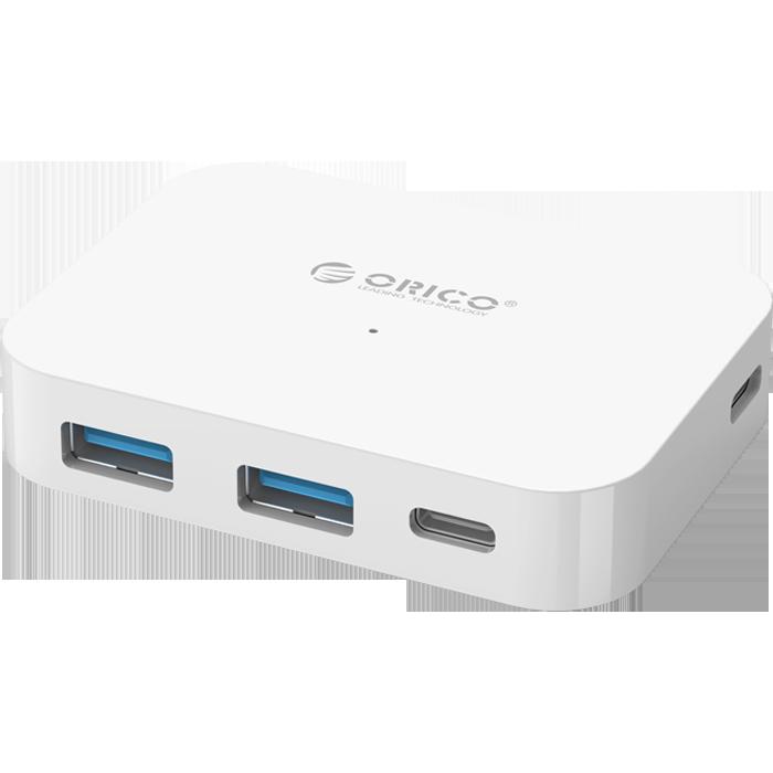 Фото - 4-port USB type C Hub Orico TC2U-U3-WH белый (USB3.0 тип А х 2, USB3.0 тип C х 2) 10 port usb3 0 hub orico m3h10