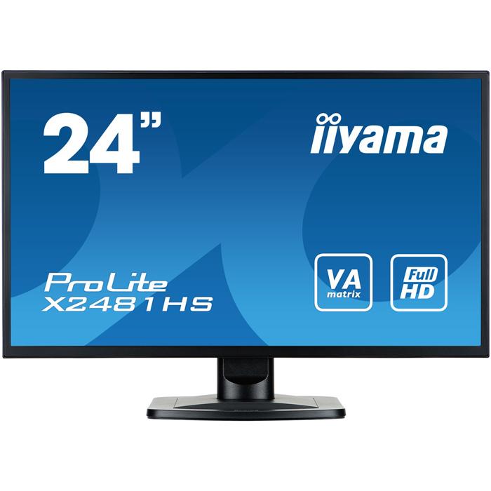 Монитор 24 Iiyama ProLite X2481HS-B1 VA 1920x1080 6ms DVI-D, HDMI, VGA