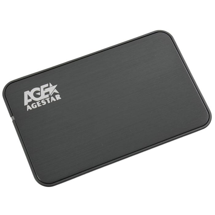 Фото - Корпус 2.5 AgeStar 3UB2A8S-6G SATA, USB3.0 Black корпус 2 5 agestar 3ub2a8 6g sata usb3 0 silver