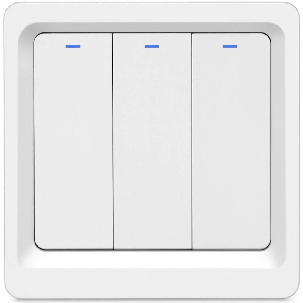 Фото - Умный Wi-Fi выключатель Hiper IoT Switch B03, встраиваемый, 3 кнопки умный wi fi модуль выключатель hiper iot switch m02 белый hdy sm02