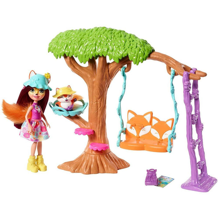 Фото - Кукла Игровой набор Enchantimals FRH44/FRH45 Домик на дереве Фелисити Фокс пазл оригами энчантималс 64эл магнитик фелисити лис и флик 22х22см 03554