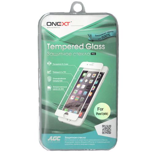 Защитное стекло для iPhone 6 Plus Onext 3D, изогнутое по форме дисплея, с белой рамкой защитное стекло для iphone 6 plus onext 3d изогнутое по форме дисплея с прозрачной рамкой