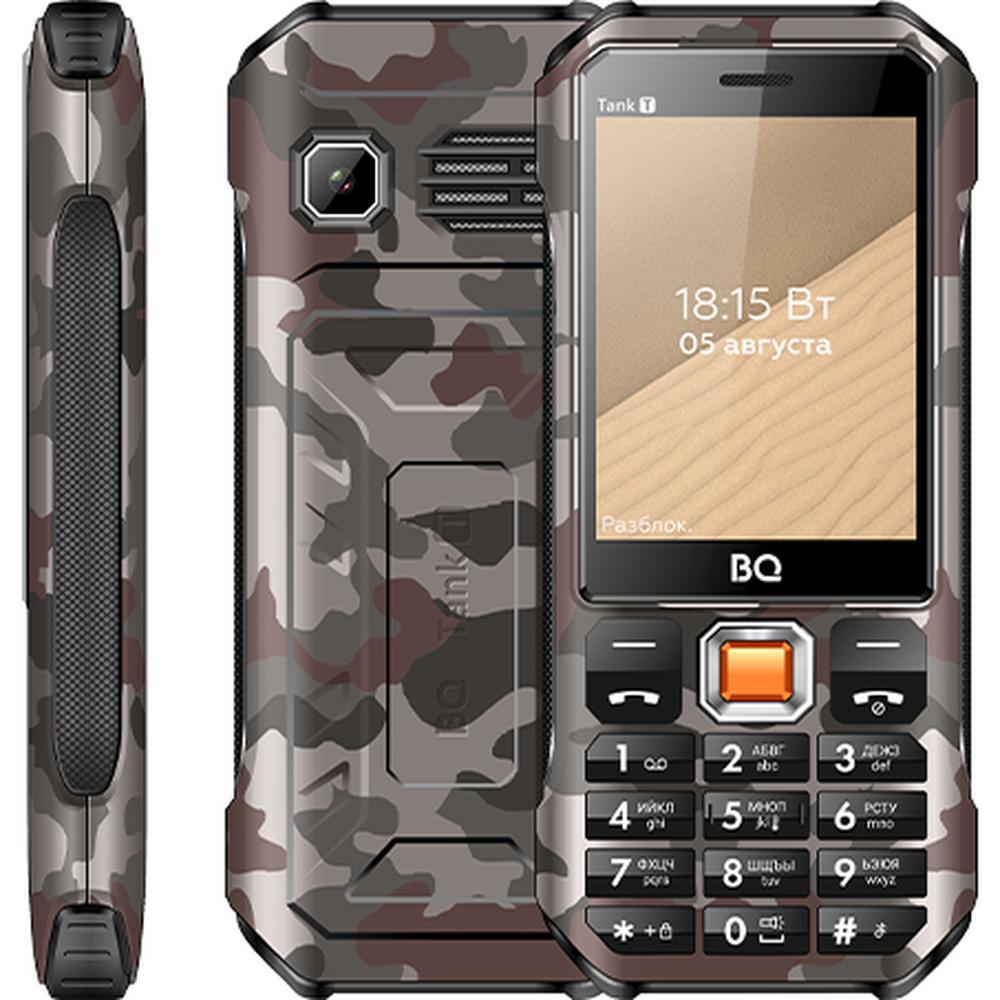 Мобильный телефон BQ Mobile BQ-2824 Tank T Camouflage Grey телефон bq 2824 tank t черный