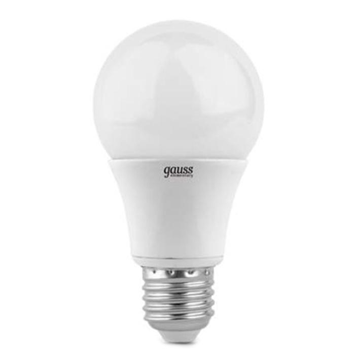 Фото - Светодиодная лампа Gauss Elementary LED A60 E27 10W 4100K 23220 лампа светодиодная gauss 102502210 s led a60 10w e27 4100k step dimmable 1 10 50