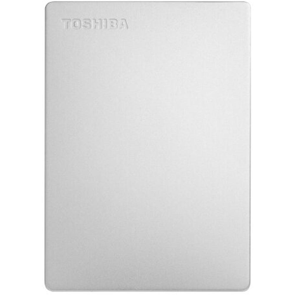 Фото - Внешний жесткий диск 2.5 2Tb Toshiba HDTD320ES3EA 5400rpm USB3.0 Canvio Slim Серебристый toshiba canvio slim usb 3 0 1тб hdtd310ek3da черный