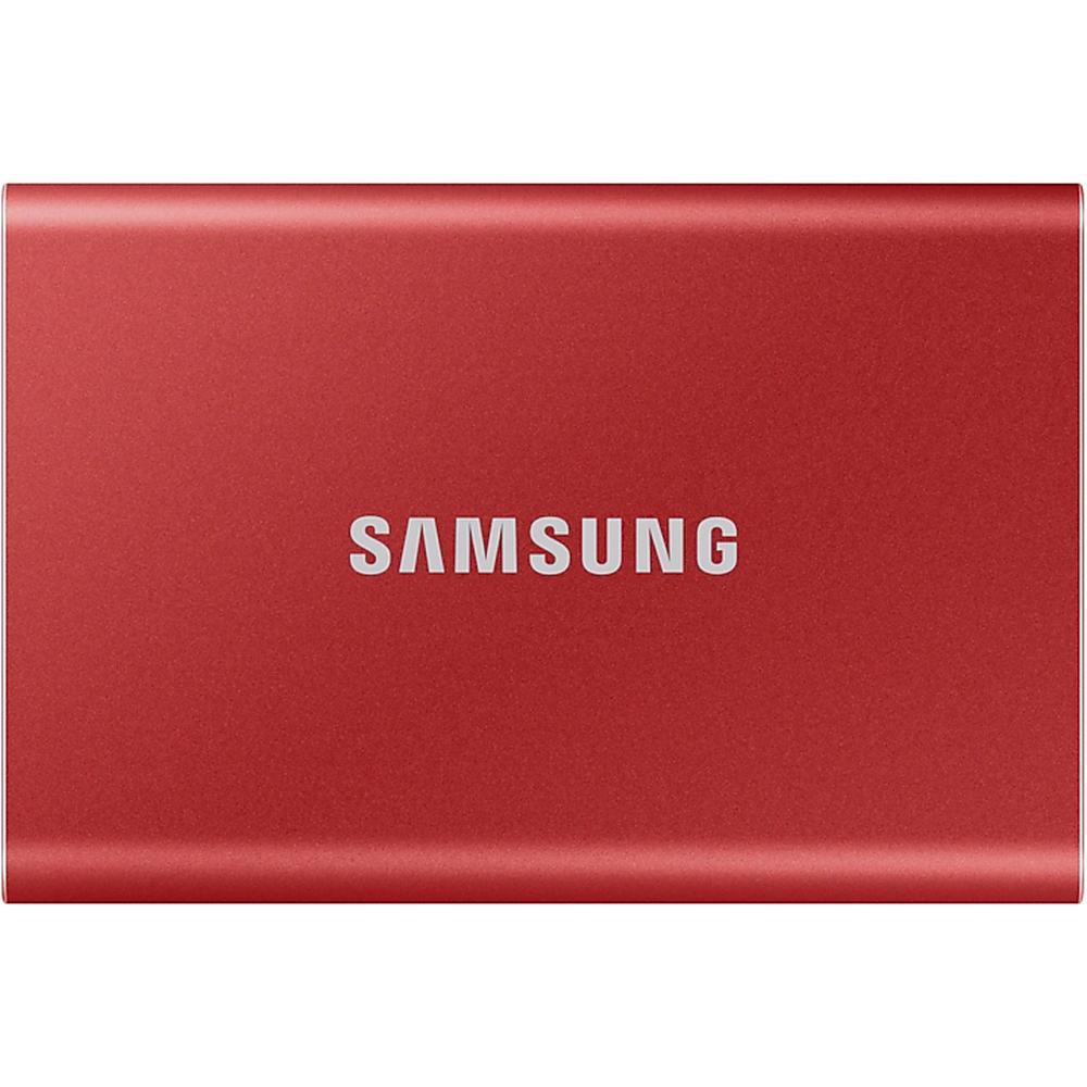 Фото - Внешний SSD-накопитель 1.8 1000Gb Samsung T7 MU-PC1T0R/WW (SSD) USB 3.2 Type C Красный электроника