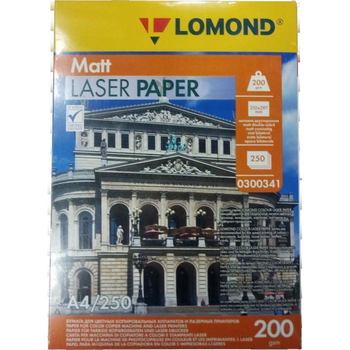 Фото - Фотобумага Lomond A4 200г/м2 250л.,матовая (0300341) лента для полноцветной печати с ультрафиолетовым покрытием zebra 800014 941