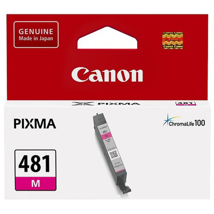 Фото - Картридж Canon CLI-481M для TS6140, TR7540, TR8540, TS8140, TS9140. Пурпурный картридж canon cli 481xl y для canon pixma ts6140 ts8140ts ts9140 tr7540 tr8540 желтый 2046c001