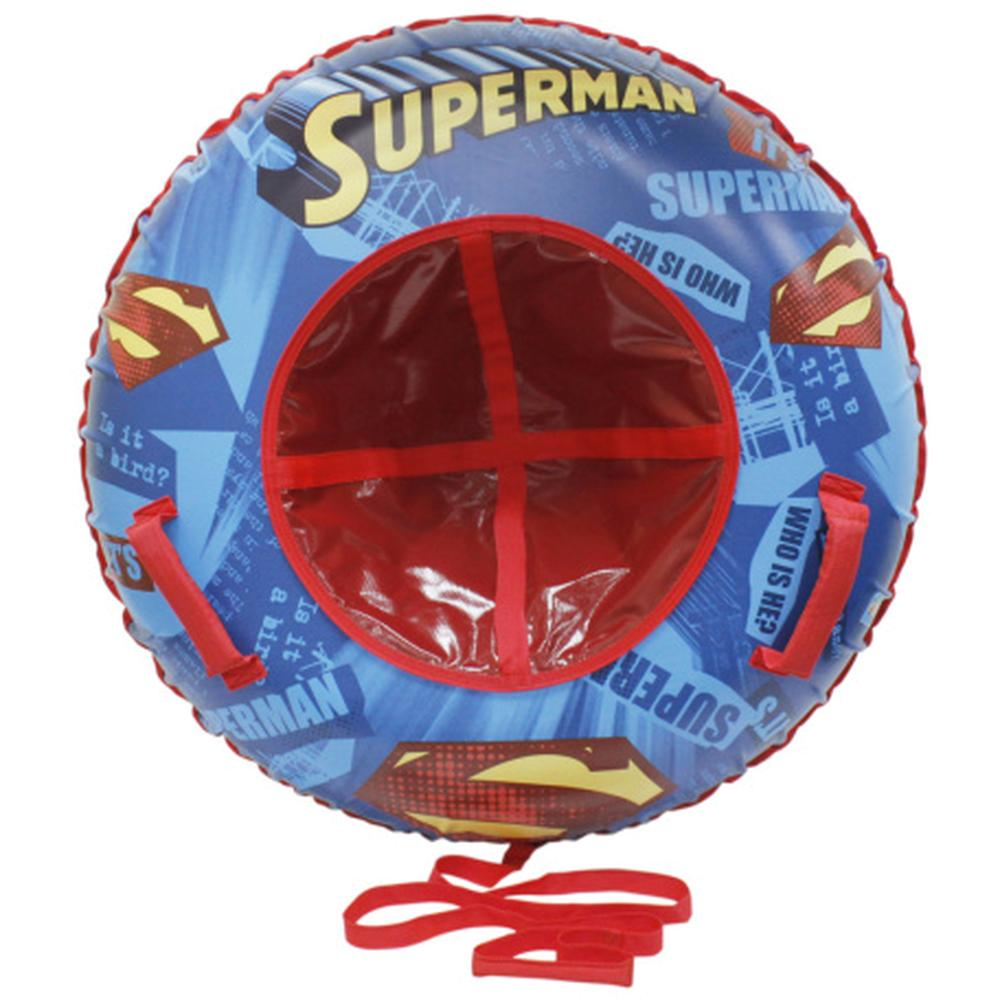 Тюбинг 1Toy Супермен надувные сани (материал глянцевый пвх) 85 см 1toy wb супермен ледянка 52 см круглая