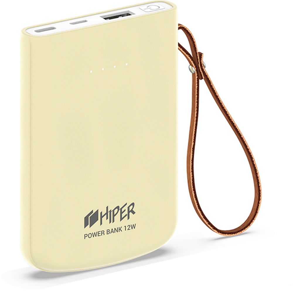 Фото - Внешний аккумулятор HIPER Travel5k 5000mAh желтый внешний аккумулятор usams us cd123 5000mah черный