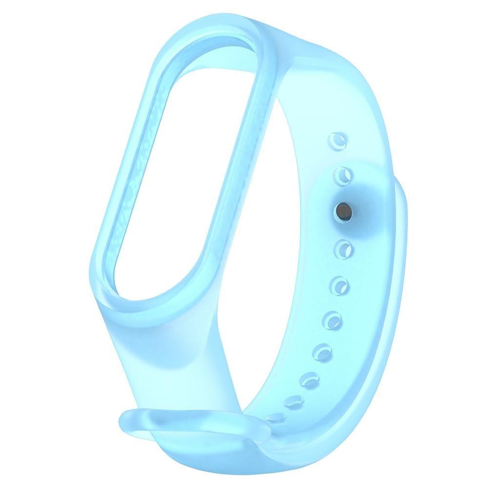 Ремешок прозрачный силиконовый Zibelino для Mi Band 3/4 голубой
