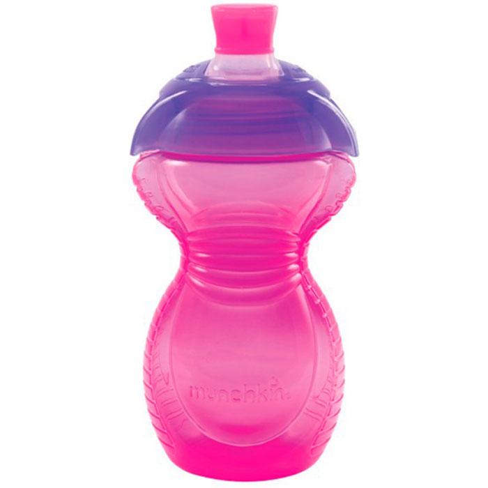 Поильник Munchkin чашка Click Lock с носиком 270мл 9+ 12292 (розовый с фиолетовой крышкой)