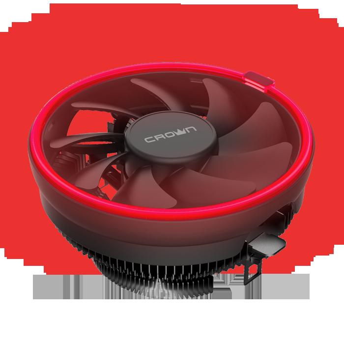 Cooler for CPU Crown CM-1150PWM Red LED (S775/S1155/S1156/1150/1151/AM4/754/939/940/AM2/AM2+/AM3/AM3+/FM1/FM2/FM2+)