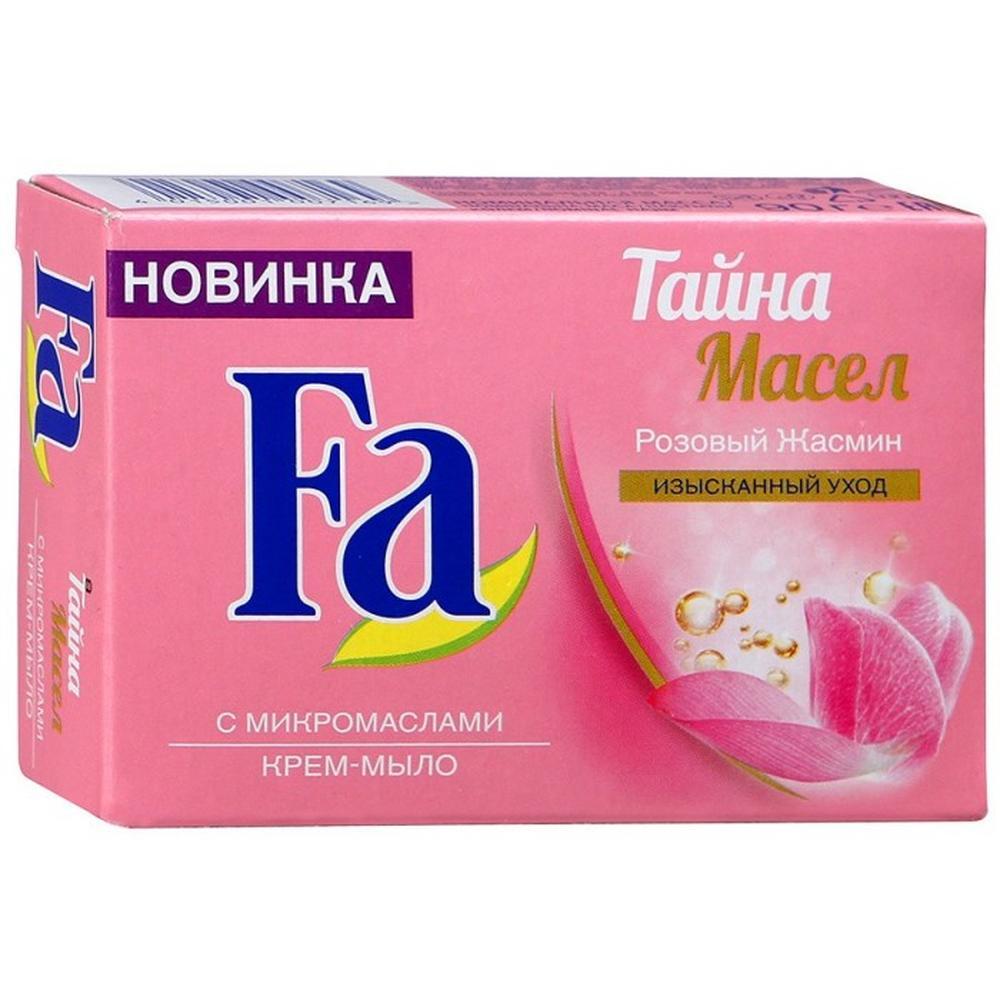 Твердое мыло Крем-мыло кусковое Fa Тайна масел розовый жасмин, 90 г.