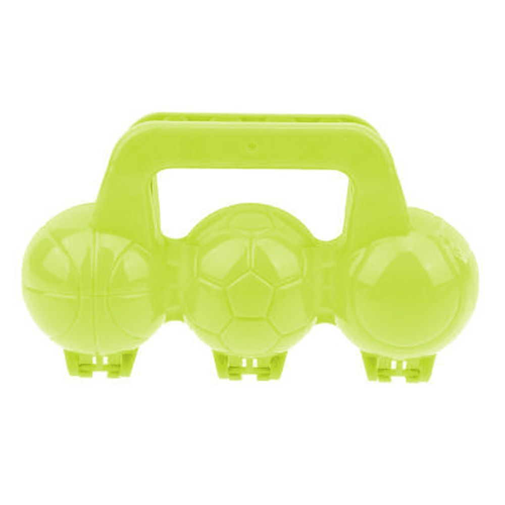 1Toy Песколеп мячики 3 ячейки 20*11*22 см Т16419 желтый недорого
