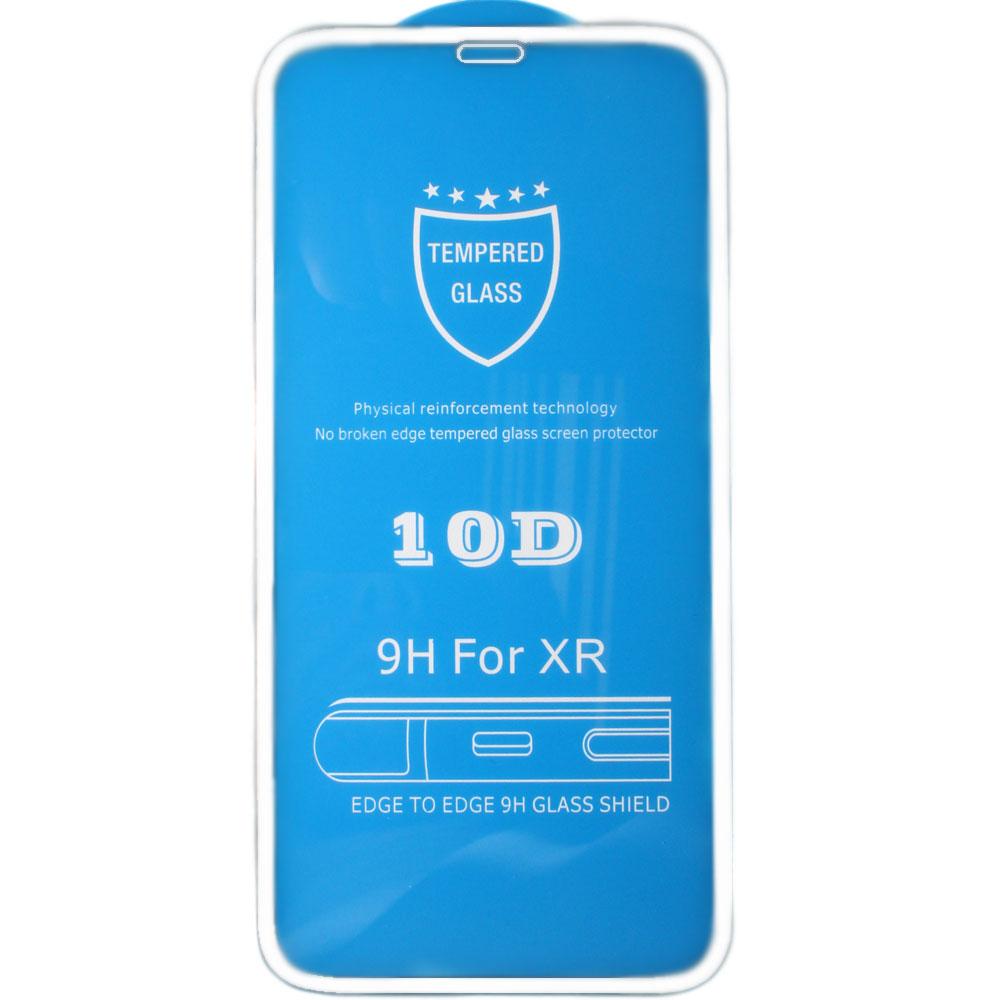 Защитное стекло для iPhone 11 Pro Brosco 3D, изогнутое по форме дисплея, с белой рамкой защитное стекло для iphone 6 plus onext 3d изогнутое по форме дисплея с прозрачной рамкой