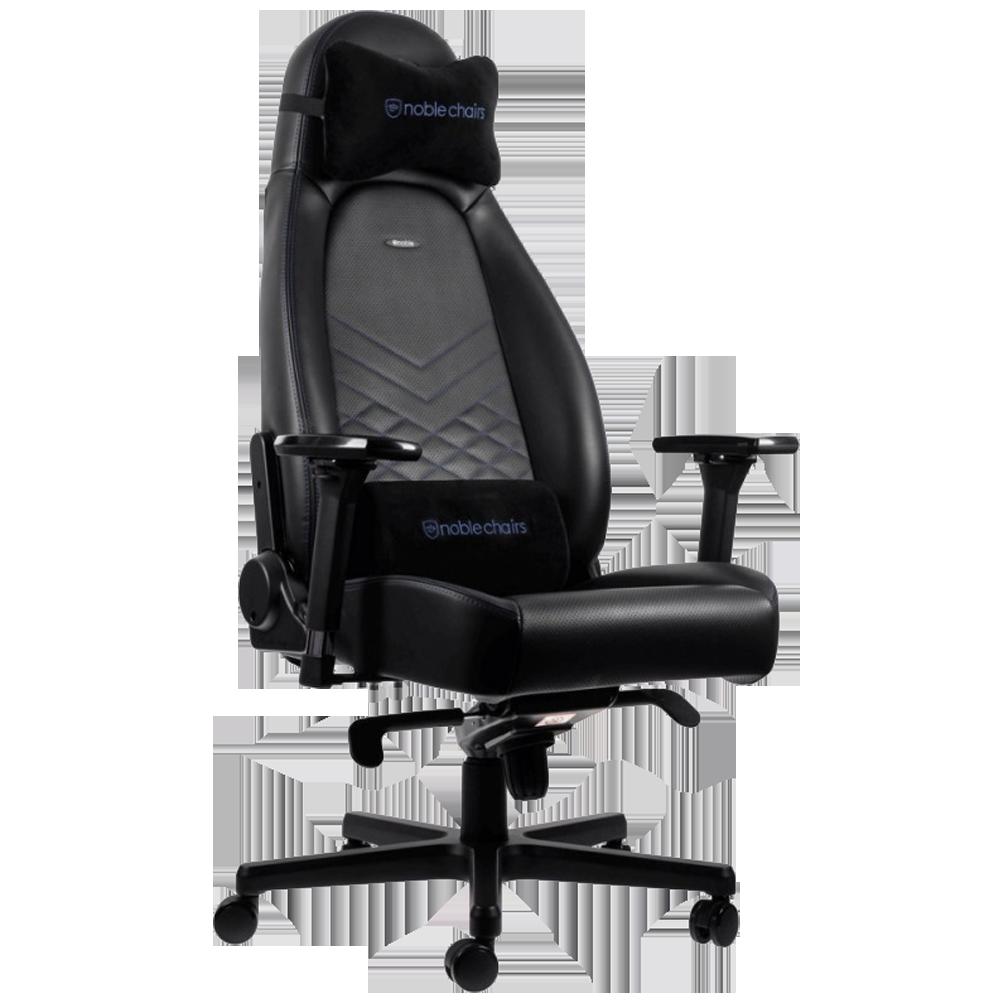 Кресло для геймера Noblechairs ICON черно-синее