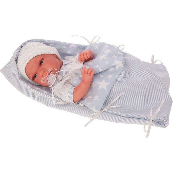 Кукла-младенец Munecas Antonio Juan Эмилио в голубом, 33 см 6019B