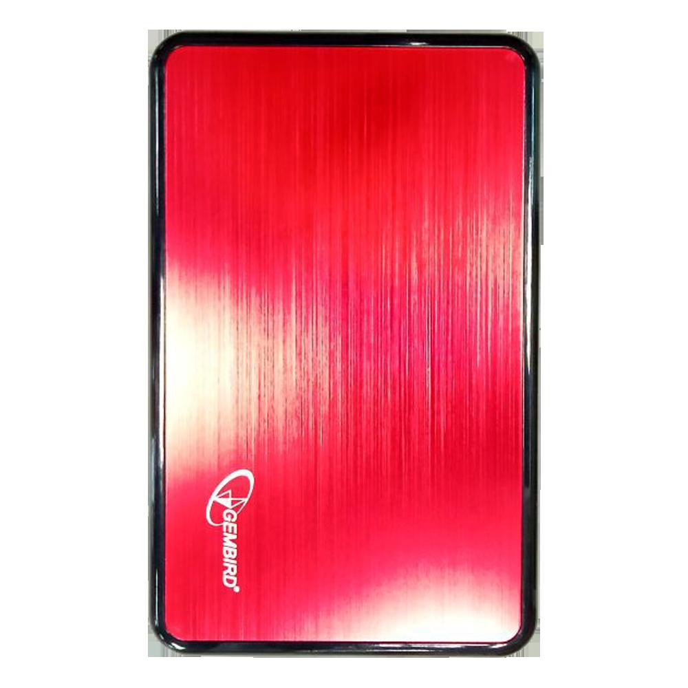 Корпус 2.5 Gembird EE2-U3S-61, SATA-USB3.0 Metal Red