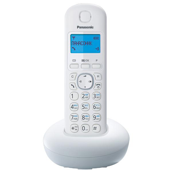 Радиотелефон Panasonic KX-TGB210RUW белый радиотелефон