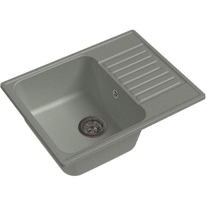 Кухонная мойка GranFest Quarz GF-Z13 чаша с крылом 620*480мм серый кухонная мойка granfest quarz gf z58 чаша с крылом 620 480мм бежевый