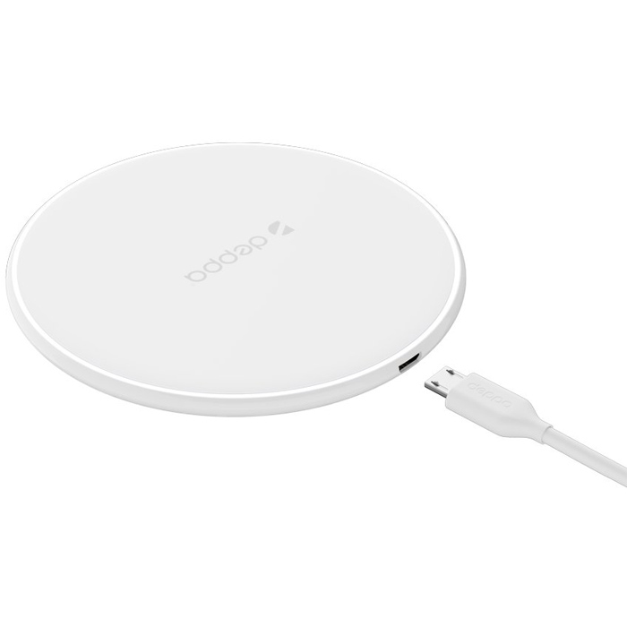 Фото - Беспроводная зарядная панель Deppa Qi Fast Charger (24001), White headphones for samsung galaxy s9 s8 plus s8 handsfree earphones