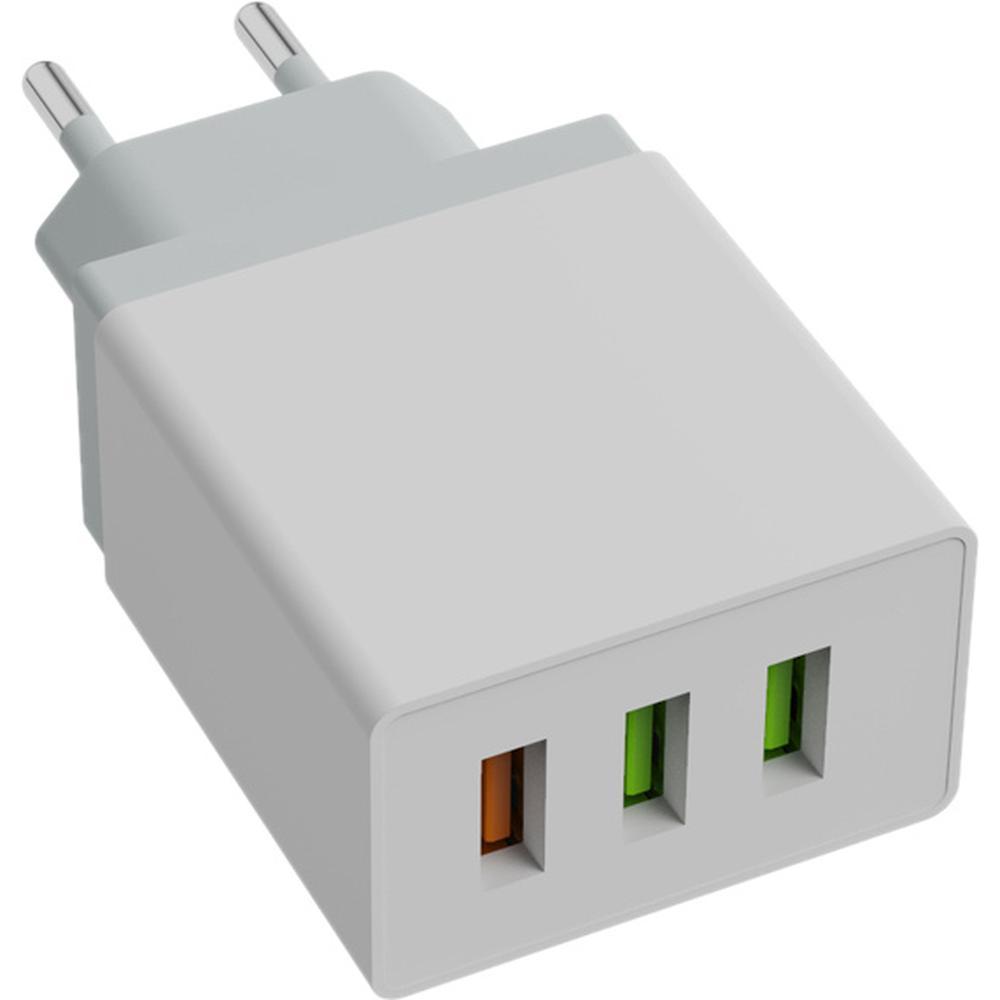Сетевое зарядное устройство Ritmix RM-3033QC 2xUSB + QC 3.0 белый