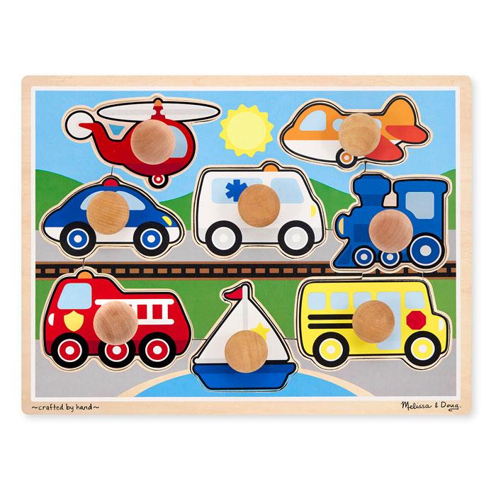 Паззл Мои первые пазлы Melissa & Doug Первые транспортные средства (8 элементов) 8980