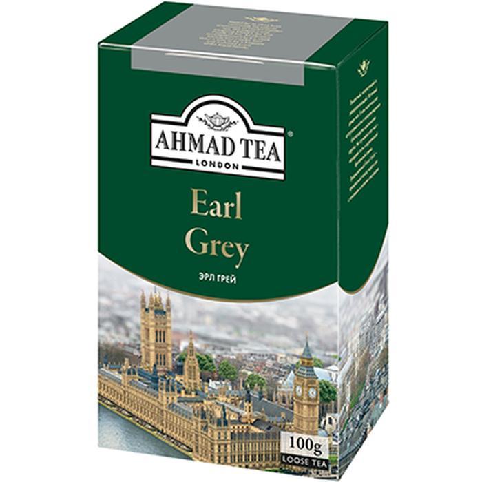 Чай Ahmad Tea Earl Grey черный, с бергамотом, листовой, 200г