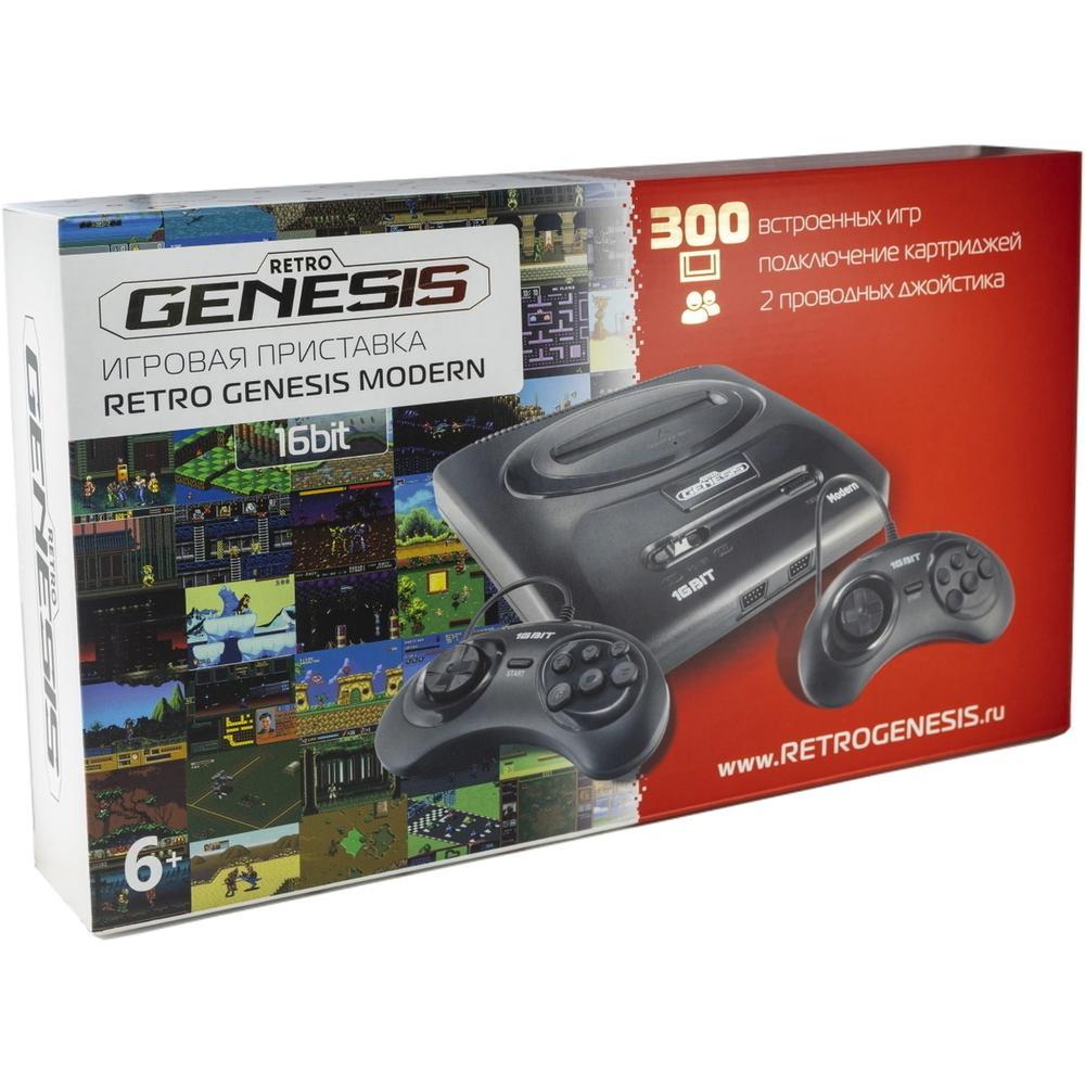 Игровая приставка SEGA Retro Genesis Modern + 300 игр + 2 джойстика игровая приставка dendy junior 300 игр 2 джойстика пистолет