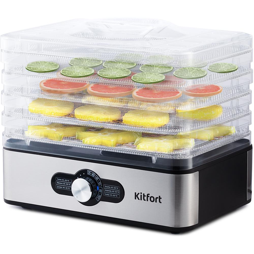 Сушилка для овощей, грибов и фруктов Kitfort КТ-1913 бытовая техника kitfort сушилка для овощей и фруктов кт 1903