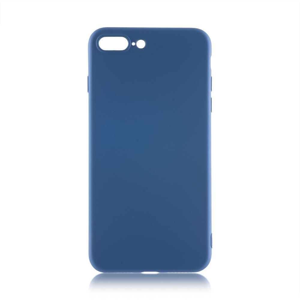 Чехол для Apple iPhone 7 Plus\8 Plus Brosco Softrubber\Soft-touch синий аксессуар чехол neypo soft touch для apple iphone 8 plus 7 plus black st02111