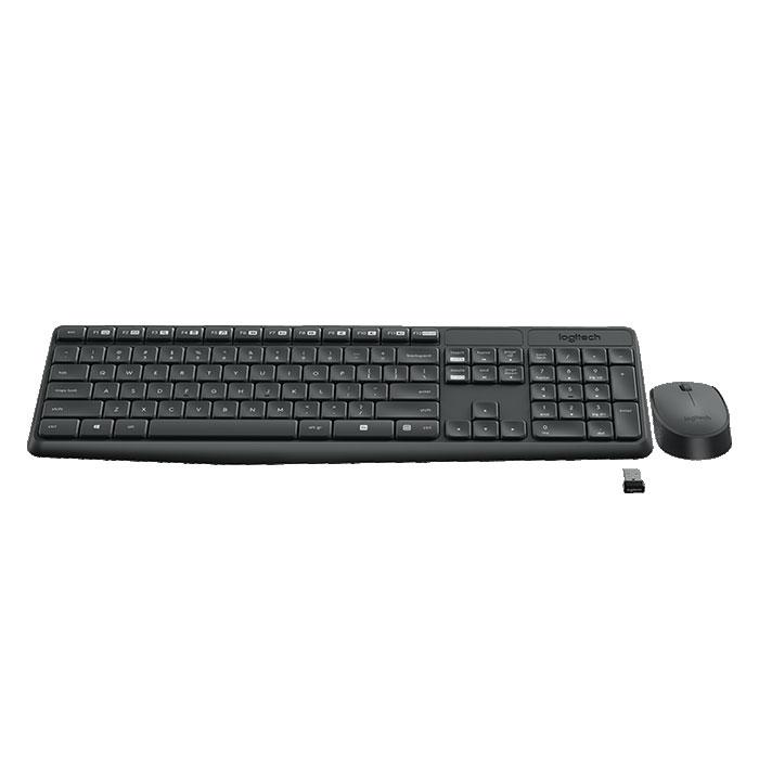 Клавиатура+мышь Logitech Wireless Desktop MK235 Black USB клавиатура мышь logitech wireless desktop mk 220 920 003169