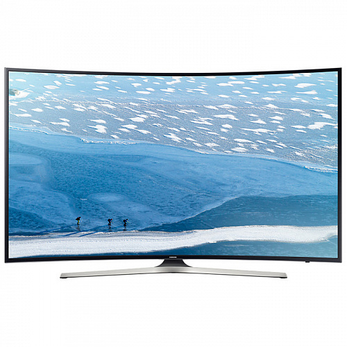 "Телевизор 49"" Samsung UE49KU6300UX (4K UHD 3840x2160, Smart TV, изогнутый экран, USB, HDMI, Wi-Fi) черный/серый"