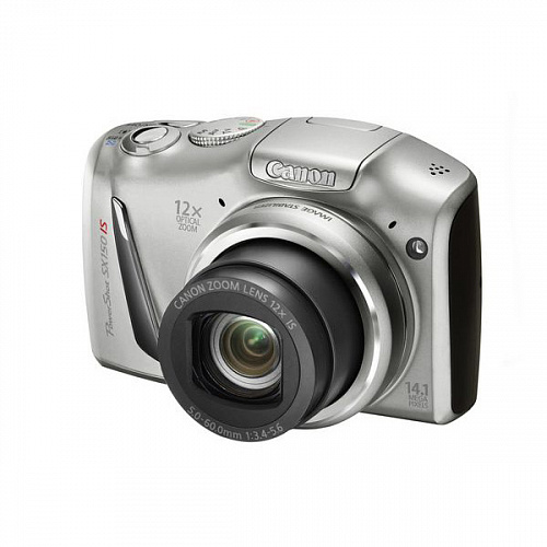 "Компактная фотокамера Canon PowerShot SX150 IS Silver (14.1MPx, 12x opt/4x dig zoom, 3"", SD/SDHC, USB)"