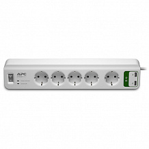 Сетевой фильтр APC by Schneider Electric Surge Arrest PM5U-RS 2USB