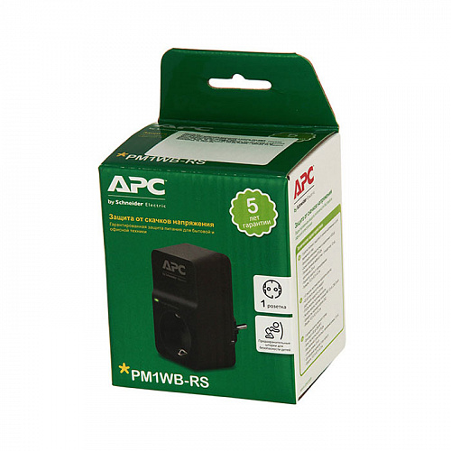 Сетевой фильтр APC by Schneider Electric Surge Arrest PM1WB-RS Essential